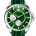 Pager to activate Palatial Classic Manual Big Date Mineral Crystal Dial - Steel