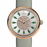 Pager to activate Brilliant One Row Rose Gold Tsavorites 38mm