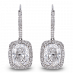 Pager to activate Cushion-Cut Drop Earrings