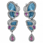Pager to activate Small Drop Blue Topaz Papillon Earrings