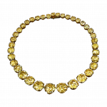 Pager to activate Yellow Diamond Riviera Necklace
