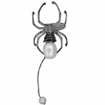 Pager to activate Pearl & Diamond Spider Ring