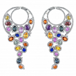 Pager to activate White Gold Multicolor Earrings
