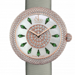 Pager to activate Brilliant Half Pave Rose Gold Tsavorites 44mm