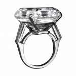 Pager to activate Exceptional Emerald Cut Diamond Ring