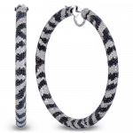 Pager to activate Zebra Hoop Earrings