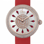 Pager to activate Brilliant Half Pave Rose Gold Ruby 44mm