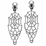Pager to activate Black Plated Earrings with Black Pearls 2