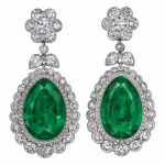 Pager to activate Old Mine Natural Colombian Emerald Drop Earrings