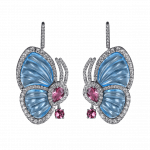 Pager to activate BLUE TOPAZ PAPILLON SMALL EARRINGS
