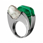 Pager to activate Emerald and Diamond Ring