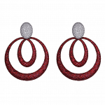 Pager to activate Titanium Glam Ruby Earrings