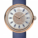 Pager to activate Brilliant One Row Rose Gold Blue Sapphires 44mm