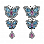 Pager to activate Small Butterfly Papillon Drop Earrings