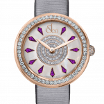 Pager to activate Brilliant One Row Rose Gold Amethyst Sapphires 38mm
