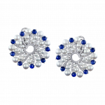 Pager to activate Infinia Pearl Blue Sapphires Earrings