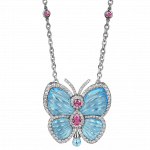 Pager to activate Papillon Necklace with Blue Topaz Large