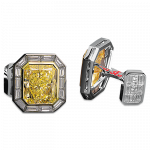 Pager to activate Fancy Yellow Diamond Masterpieces Cufflinks