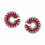Pager to activate Marquise Cut Ruby Earrings Small