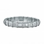 Pager to activate HEMATITE BRACELET 21 WHITE GOLD BARS