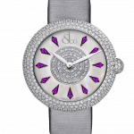 Pager to activate Brilliant Half Pave Amethyst Sapphires 38mm