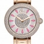 Pager to activate Brilliant Half Pave Rose Gold Couture Pink Sapphires 44mm