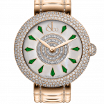 Pager to activate Brilliant Half Pave Rose Gold Couture Tsavorites 38mm