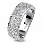 Pager to activate Three Row Diamond Band