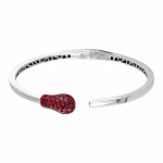 Pager to activate White Gold Ruby Match Cuff Bracelet