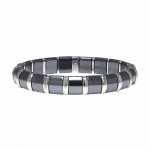 Pager to activate Hematite Bracelet 19 Stainless Steel Bars