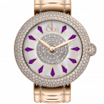 Pager to activate Brilliant Half Pave Rose Gold Couture Amethyst Sapphires 38mm