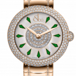 Pager to activate Brilliant Half Pave Rose Gold Couture Tsavorites 44mm