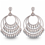 Pager to activate Tri-Circular Chandelier Earrings