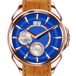 Pager to activate Palatial Classic Manual Big Date Blue Mineral Crystal Dial - Rose Gold