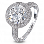 Pager to activate Platinum Round Diamond Solitaire