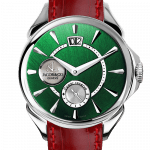 Pager to activate Palatial Classic Manual Big Date Colored Dial - Steel