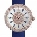 Pager to activate Brilliant Half Pave Rose Gold Blue Sapphires 44mm