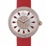 Pager to activate Brilliant Half Pave Rose Gold Ruby 38mm