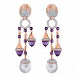 Pager to activate La Pearlina Pearl and Amethyst Earrings