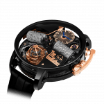 Pager to activate Opera Godfather Musical Watch Black DLC Grade 5 Titanium With Diamond Barrels