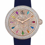 Pager to activate Brilliant Pave Multicolored Sapphires
