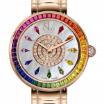 Pager to activate Brilliant Rainbow Rose Gold Bracelet