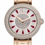 Pager to activate Brilliant Half Pave Rose Gold Couture Ruby 44mm