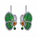 Pager to activate GREEN TOPAZ PAPILLON SMALL EARRINGS