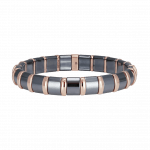 Pager to activate Hematite Bracelet 21 Rose Bars