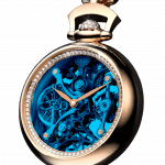 Pager to activate Brilliant Pocket Watch Pendant Blue