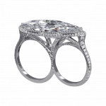 Pager to activate Exceptional Marquise Cut Diamond Ring