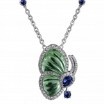 Pager to activate Papillon Necklace with Prasiolite