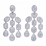 Pager to activate Art Deco Diamond Chandelier Earrings