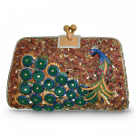 Pager to activate Peacock Design Clutch Purse